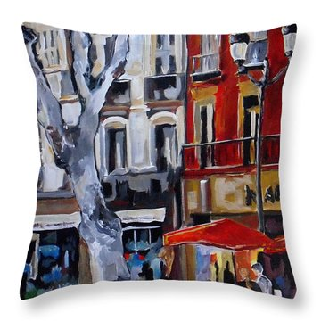 Provence In Bloom Throw Pillow by Vickie Warner