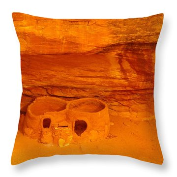 Pueblo Indian Ruins  Throw Pillow by Jeff Swan