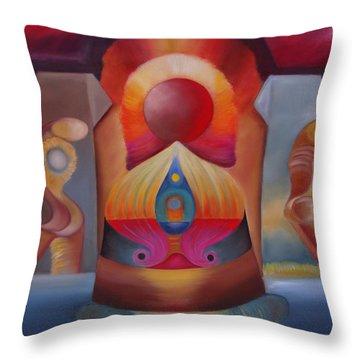 Puerta Solar Throw Pillow by Aliosha Valle