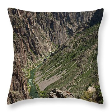 Pulpit Rock Overlook Black Canyon Of The Gunnison Throw Pillow