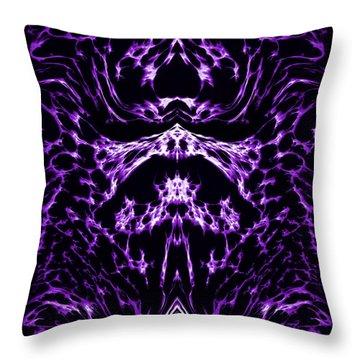 Purple Series 1 Throw Pillow by J D Owen