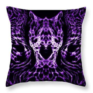 Purple Series 4 Throw Pillow by J D Owen