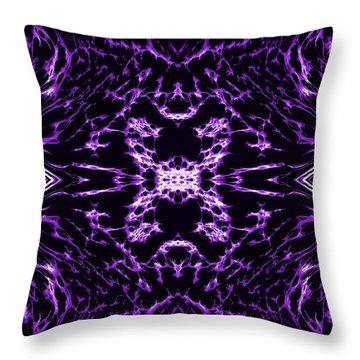 Purple Series 9 Throw Pillow by J D Owen
