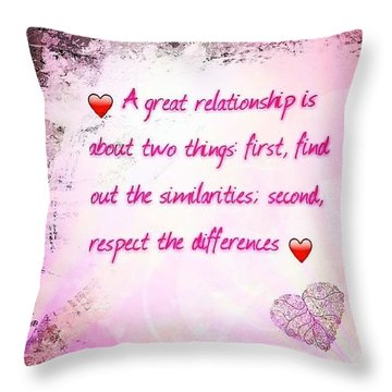 A Great Relationship Throw Pillow