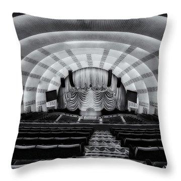 Radio City Music Hall Theatre Throw Pillow by Susan Candelario
