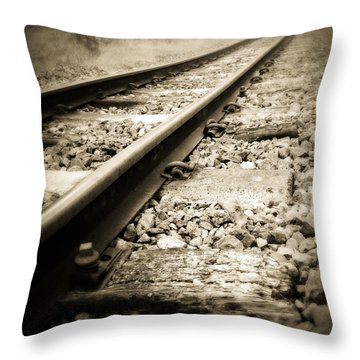 Railway Tracks Throw Pillow