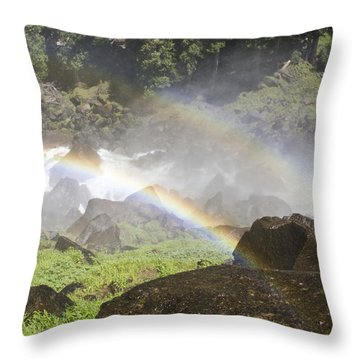 Rainbow Twins Throw Pillow