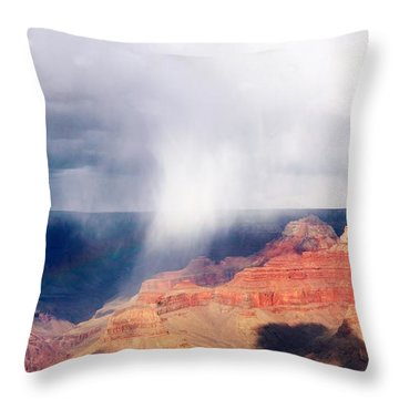 Raining In The Canyon Throw Pillow by Kathleen Struckle