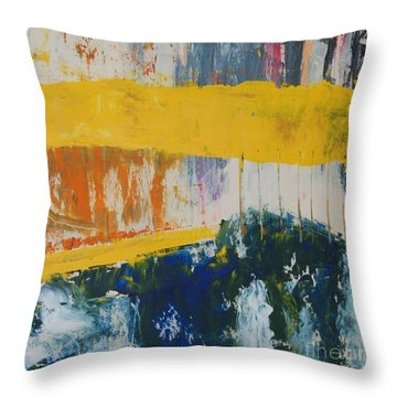 Raw Energy Throw Pillow by Mini Arora