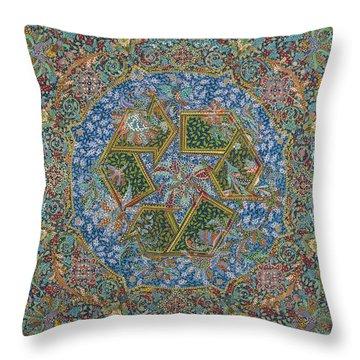 Recycle Throw Pillow by Erika Pochybova