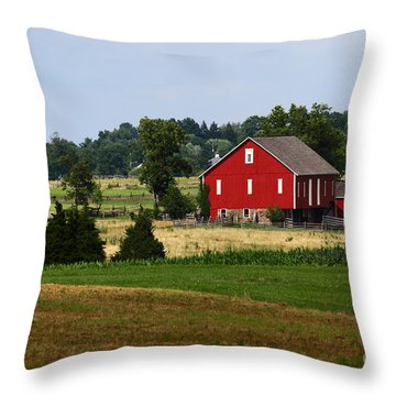 Red Barn Gettysburg Throw Pillow