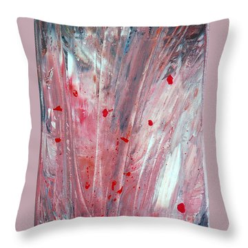 RED Throw Pillow by Teresa Wegrzyn