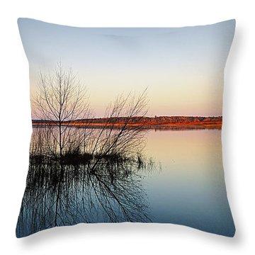 Reflections On Lake Jackson Tallahassee Throw Pillow