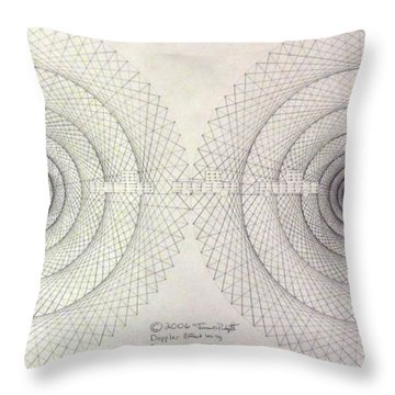 Relativity Throw Pillow by Jason Padgett