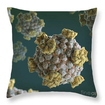 Reovirus Core Throw Pillow