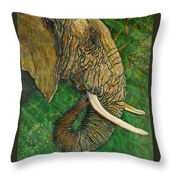 Throw Pillow featuring the painting Respect by Debbie Chamberlin