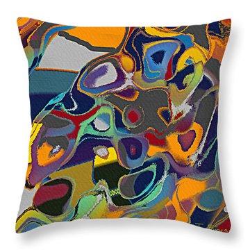 Retro Throw Pillow by Thomas Bryant