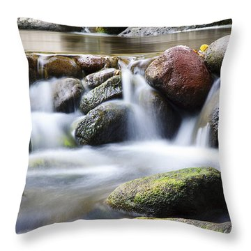 River Rocks Throw Pillow by Jenna Szerlag