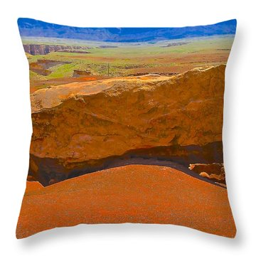 Rock Orange Throw Pillow