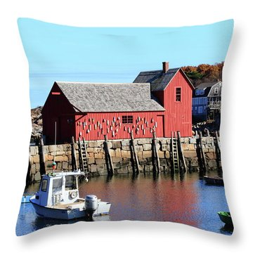 Rockport Motif Number 1 Throw Pillow by Lou Ford