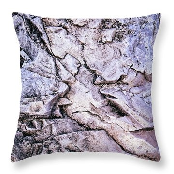 Rocks At Georgian Bay Throw Pillow by Elena Elisseeva