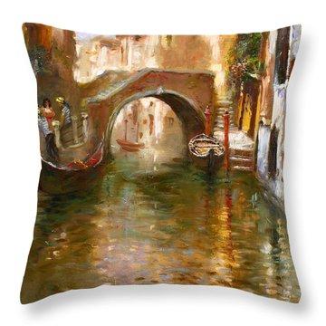 Romance In Venice  Throw Pillow