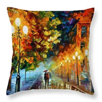 Romantic Aura  Throw Pillow by Leonid Afremov