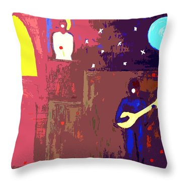 Romeo And Juliet Throw Pillow by Patrick J Murphy