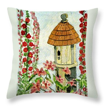 Throw Pillow featuring the painting Room With A View by Angela Davies