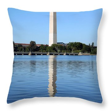 Roosevelt Looking At Washington Throw Pillow by Cora Wandel