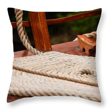 Throw Pillow featuring the photograph Rope Circle by Dany Lison