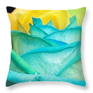 Throw Pillow featuring the photograph Rose by Haleh Mahbod