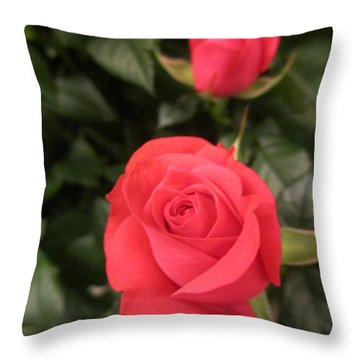 Roses In Red Throw Pillow