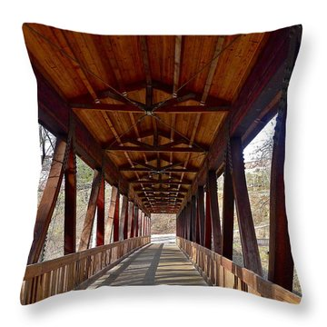 Roswell Bridge Throw Pillow