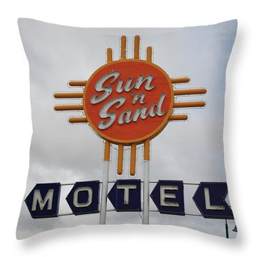 Route 66 - Santa Rosa New Mexico Throw Pillow by Frank Romeo