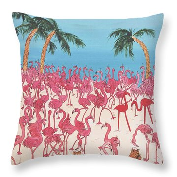 Royal Roost Throw Pillow by Lizi Beard-Ward
