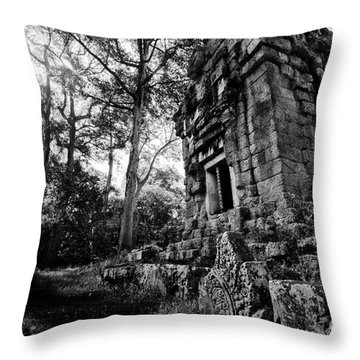 Ruin At Angkor Wat Throw Pillow