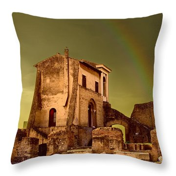 Ruin At Palatine Hill Throw Pillow