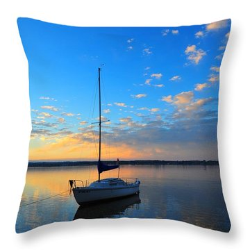 Throw Pillow featuring the photograph Sailing 2 by Terri Gostola