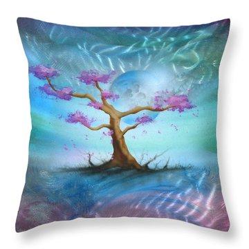 Sakura Throw Pillow by Luis  Navarro