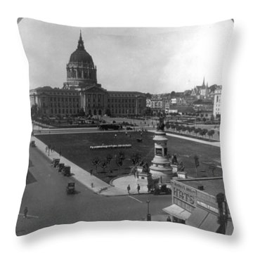 San Francisco City Hall Throw Pillow by Granger