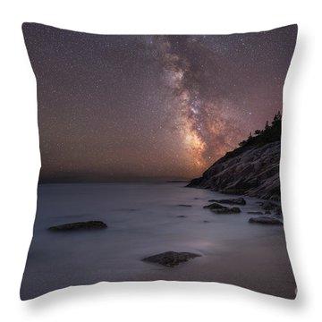 Sand Beach Acadia Milky Way Throw Pillow