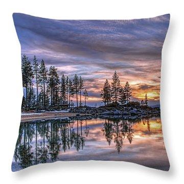 Waning Winter Throw Pillow