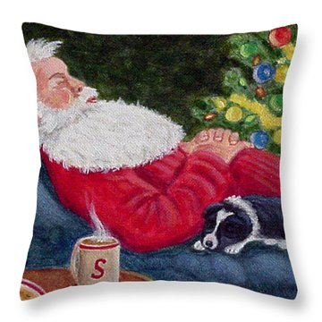 Santa And Breagh Throw Pillow