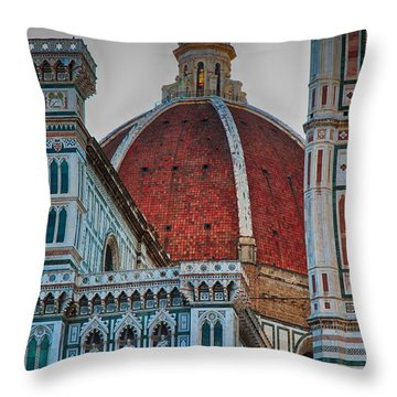 Santa Maria Del Fiore Throw Pillow by Nicola Fiscarelli