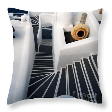 Santorini Steps Throw Pillow