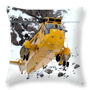 Seaking Helicopter Throw Pillow by Paul Fearn