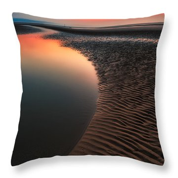 Throw Pillow featuring the photograph Seascape Sunset by Adrian Evans