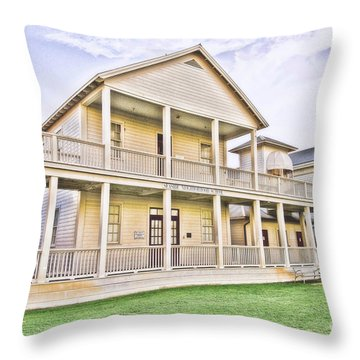 Seaside Neighborhood School Throw Pillow by Scott Pellegrin