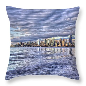 Seattle Skyline Cityscape Throw Pillow